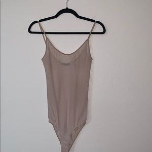 Nude sheer bodysuit